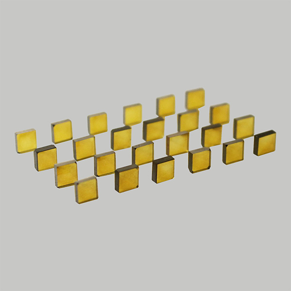 Yellow HPHT synthetic diamond plate